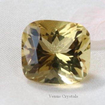美しいナチュラルゴールドの輝き コンゴ産 非加熱 シトリン 大粒ルース 4.43ct  10.4mm