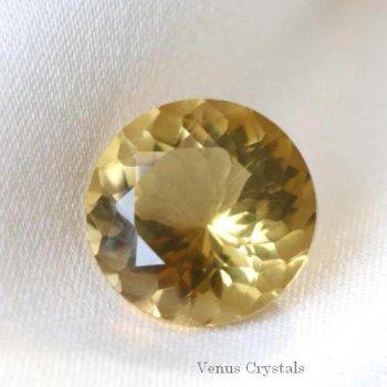 美しいナチュラルゴールドの輝き コンゴ産 非加熱 シトリン 大粒ルース 2.89ct  9.4mm