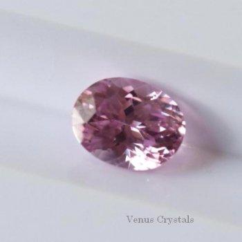 美しいピンク マダガスカル産 非加熱 ピンクサファイア ルース 0.58ct  5.2mm