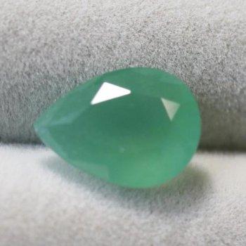 美しい緑 ジンバブエ産 ムトロライト (クロム・カルセドニー) ルース 2.33ct  10.9mm