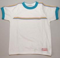 園児用体操服(白×ターコイズ半袖)