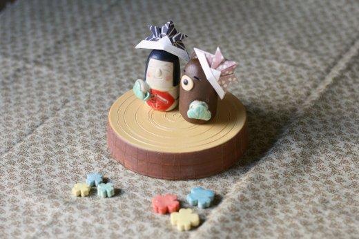 五月人形豆(丸太)
