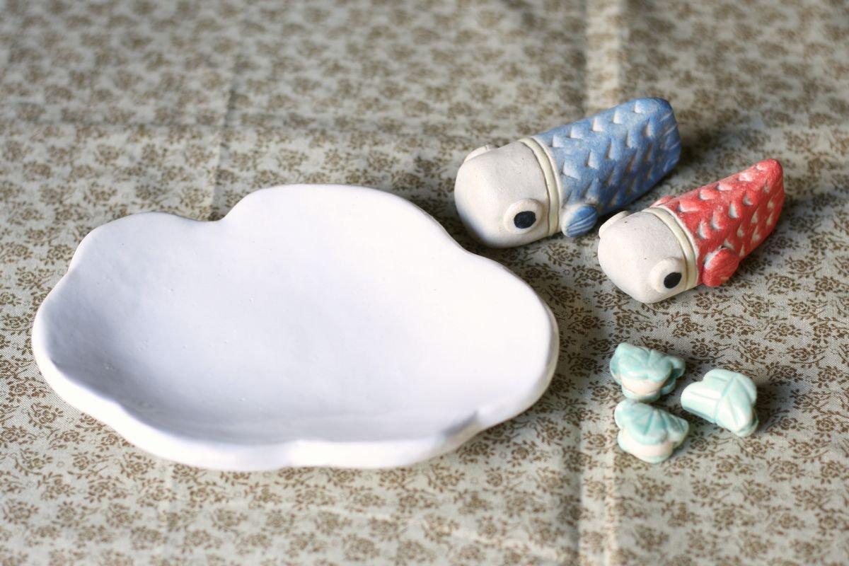 岡崎順子 五月人形豆(雲こいのぼり)