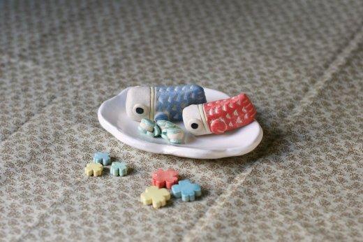 五月人形豆(雲こいのぼり)