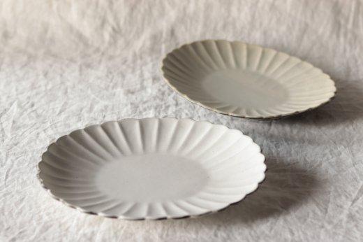輪花楕円鉢(掛け分け)