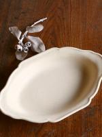 耐熱グラタン皿L-白マット