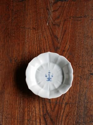 ハルジオン文桔梗皿