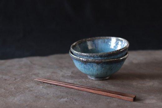 めし碗 青×グレー系