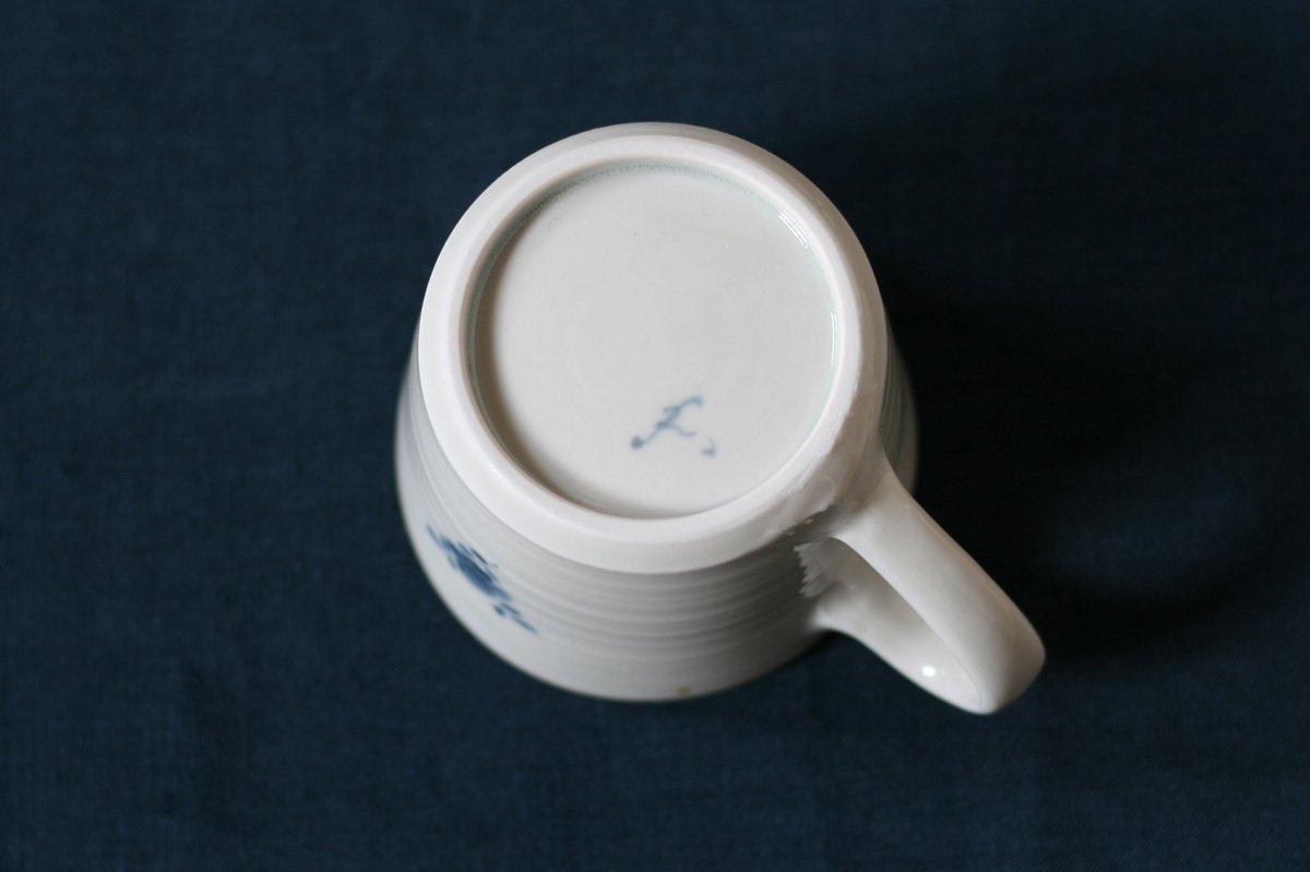 志村和晃 染付マグカップ(家)