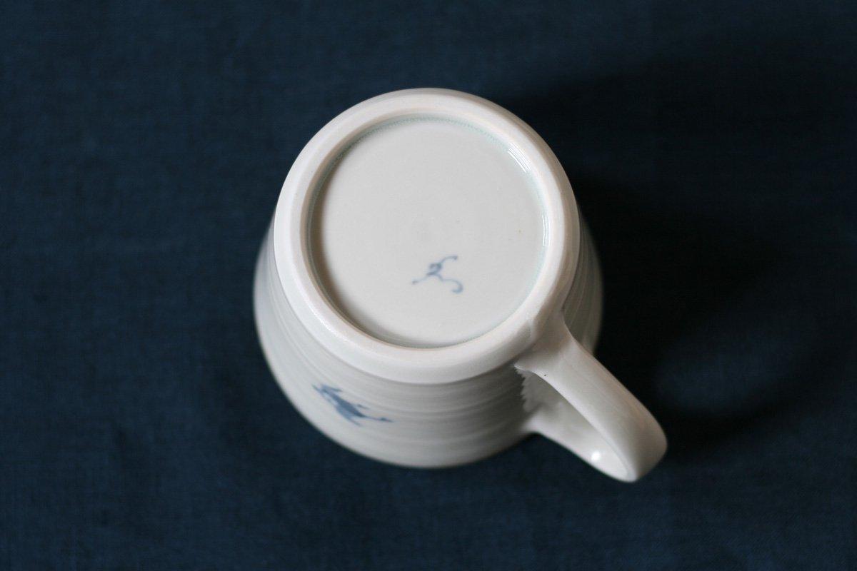 志村和晃 染付マグカップ(チューリップ)