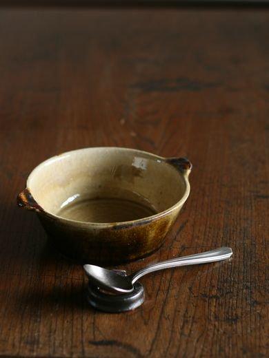 白アメ掛分スープ平碗