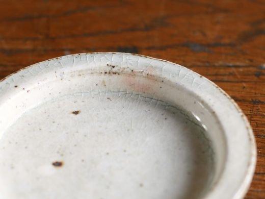 叶谷真一郎 3寸リム皿-粉引