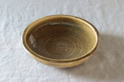 叶谷真一郎 7.5寸石皿-黄土灰