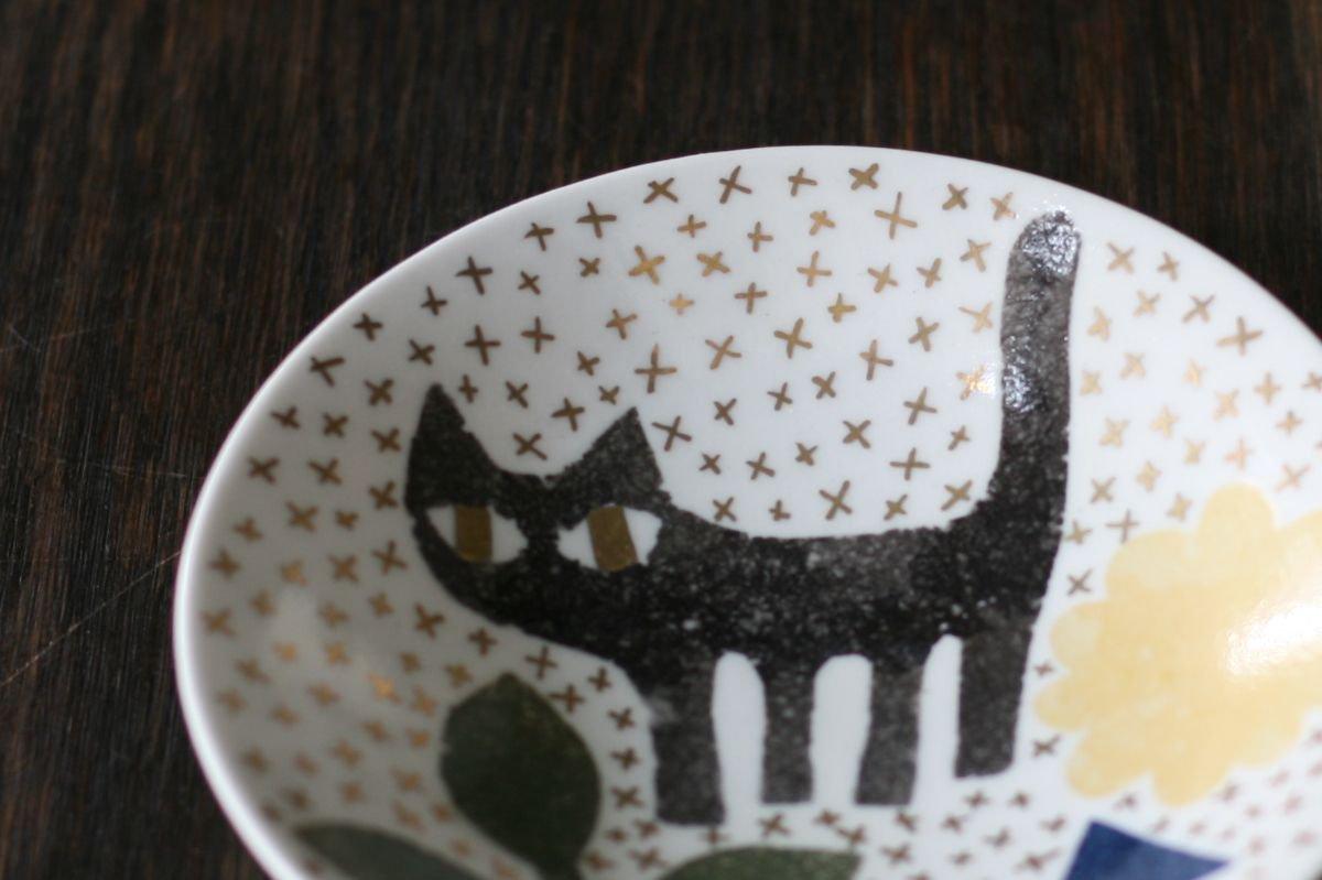 飯野夏実 猫と魚の小皿