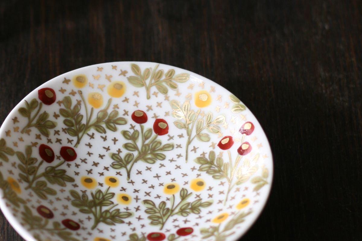 飯野夏実 バラの豆皿