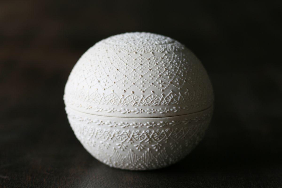 和田由記子 蓋物-球