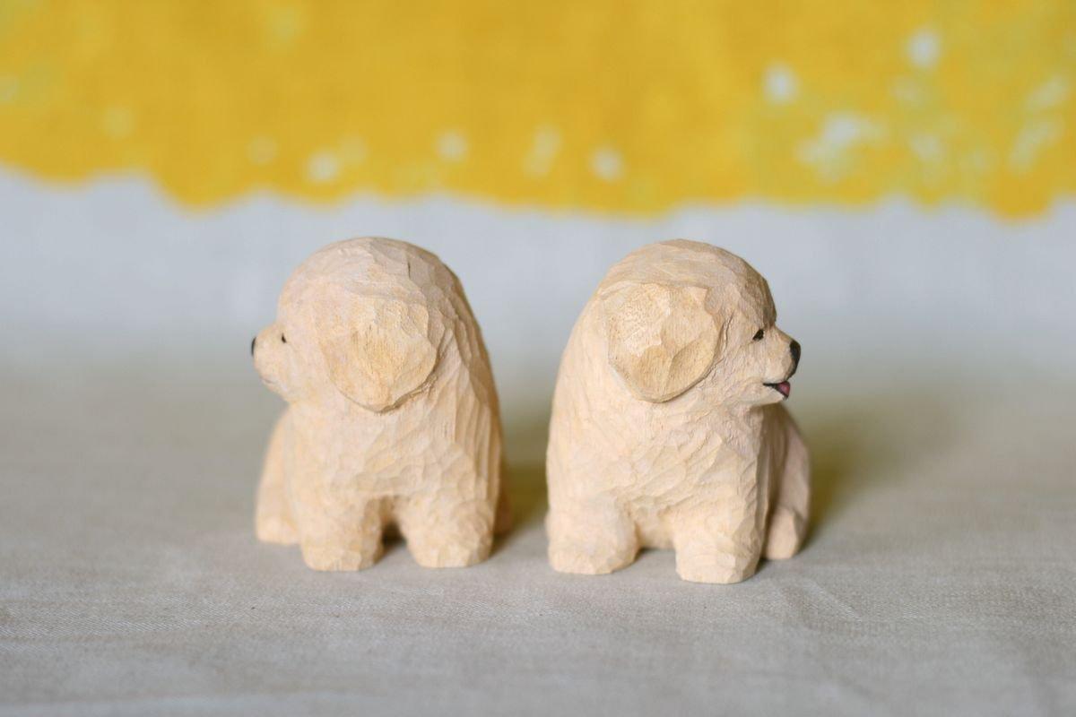 wooden fur 土屋香子 ゴルパピ狛犬