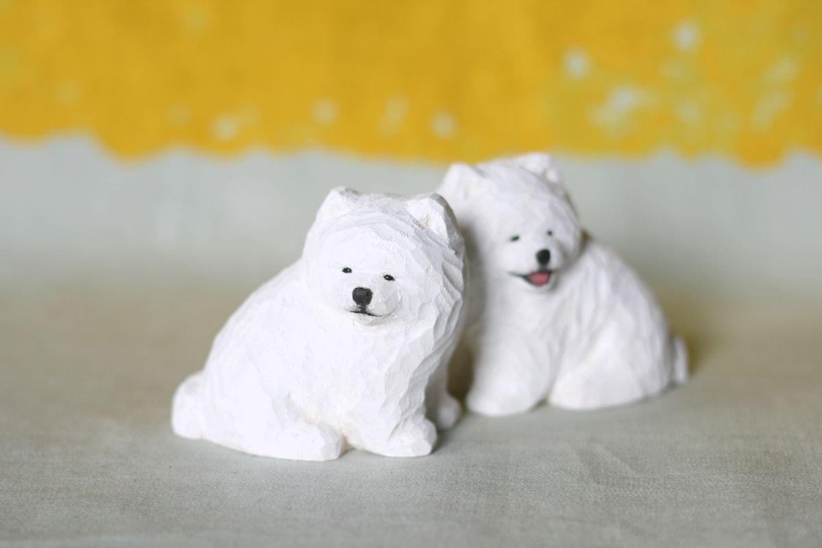wooden fur 土屋香子 子サモ狛犬