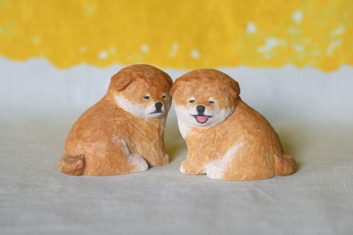 wooden fur 土屋香子 小柴狛犬