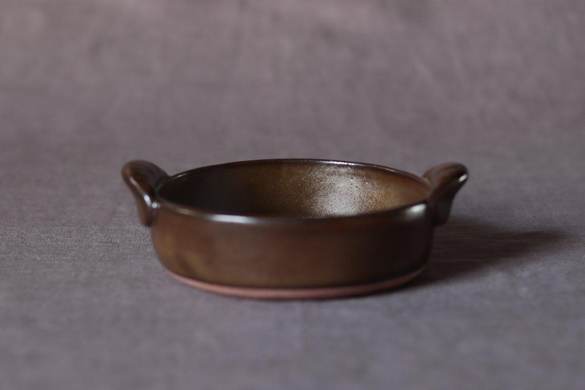 中坊優香 耐熱グラタン丸皿S茶