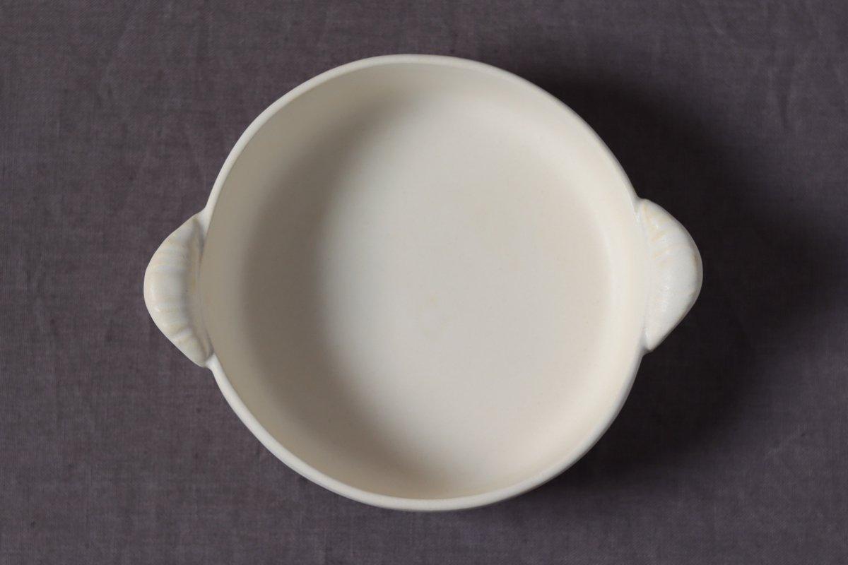 中坊優香 耐熱グラタン丸皿M白