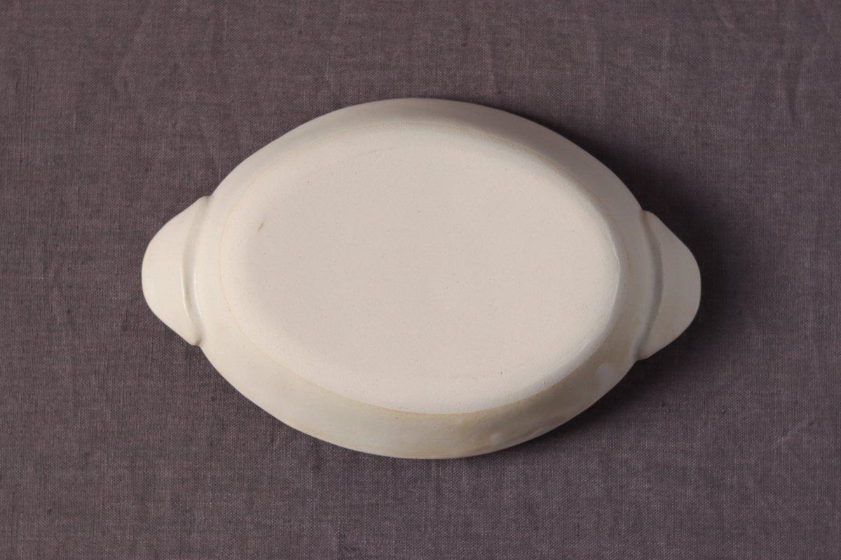 中坊優香 耐熱グラタン楕円皿S白