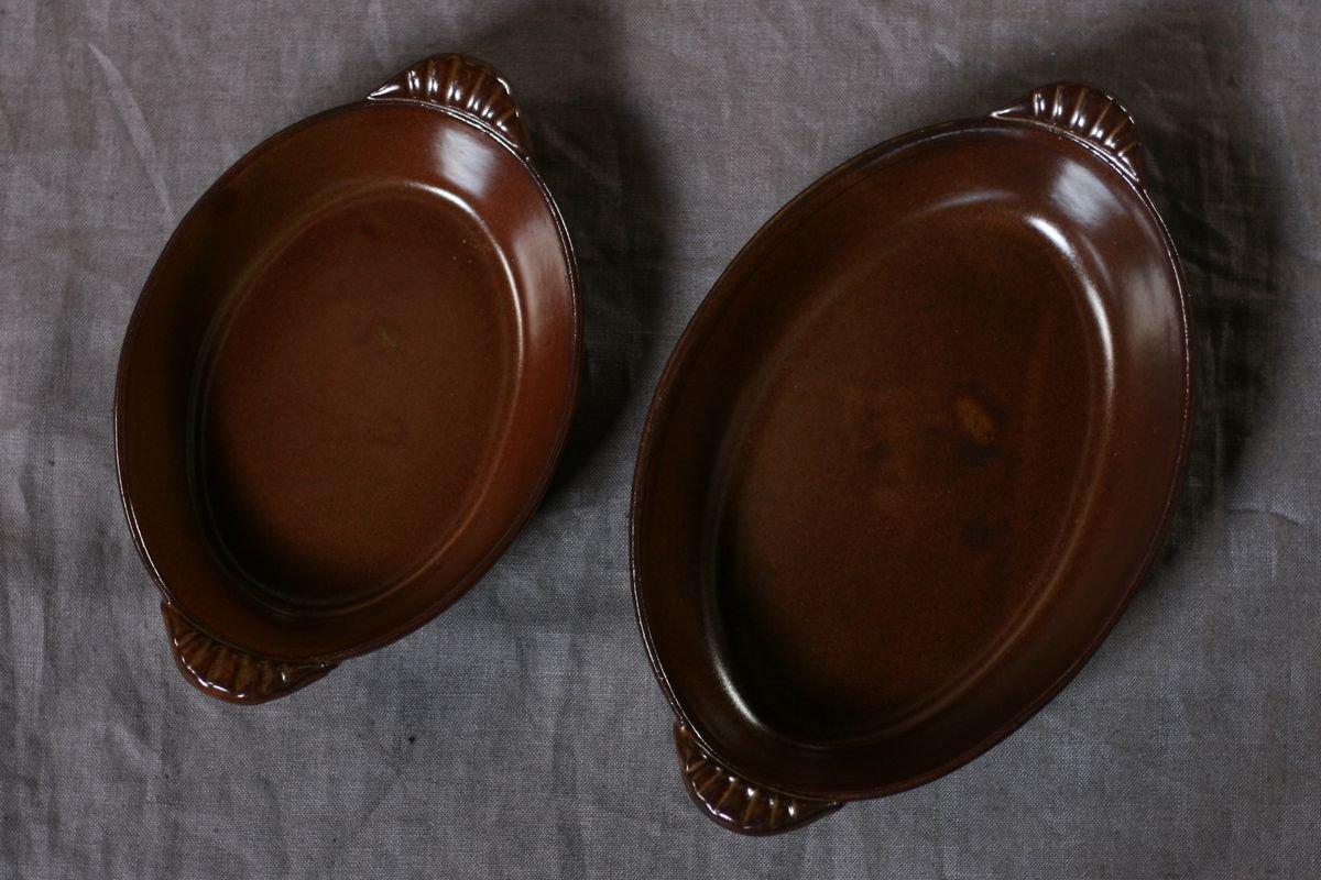 <img class='new_mark_img1' src='https://img.shop-pro.jp/img/new/icons8.gif' style='border:none;display:inline;margin:0px;padding:0px;width:auto;' />中坊優香 耐熱グラタン楕円皿S茶