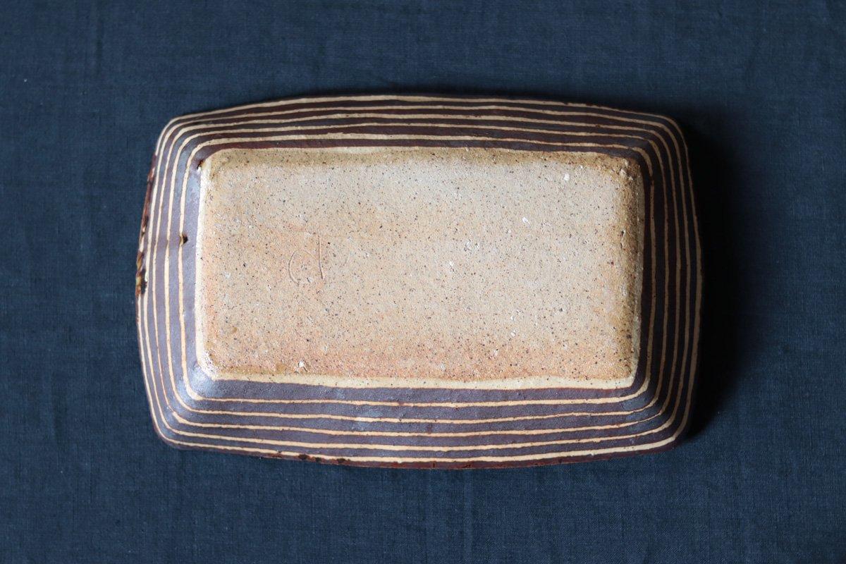 阿部誠 灰釉長方鉢