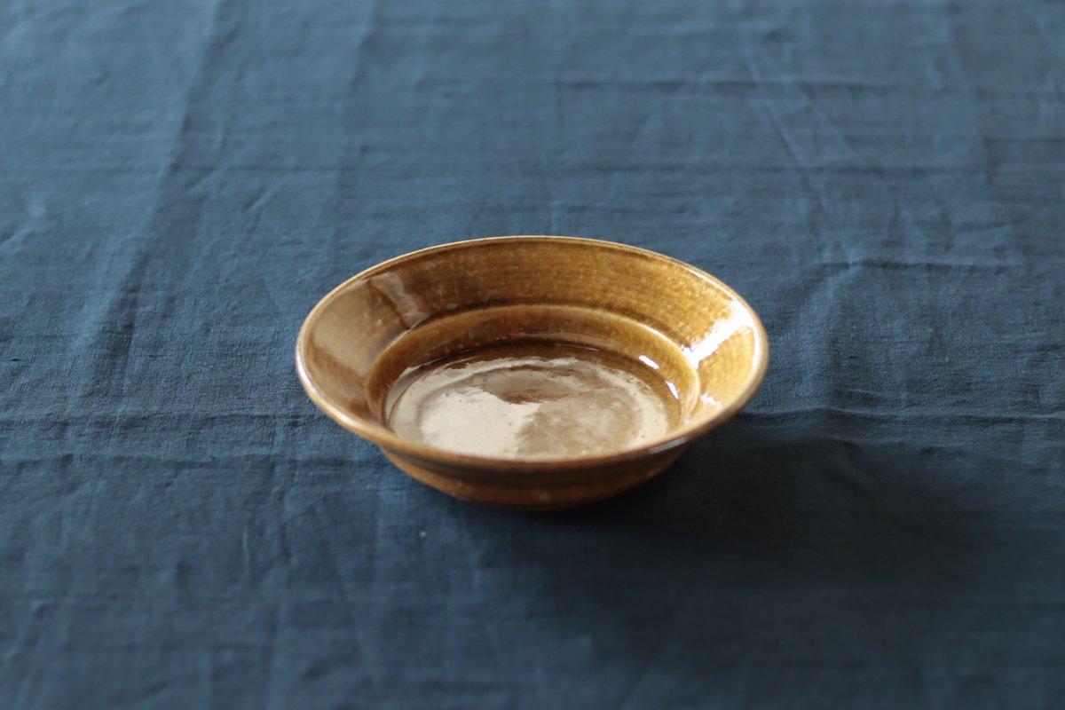 叶谷真一郎 6寸深皿黄土