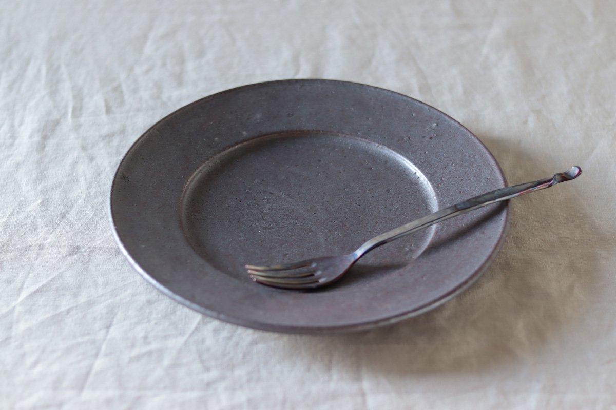 叶谷真一郎 8寸幅広リム皿鉄