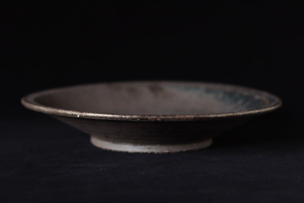 小野象平 黒志野8寸皿