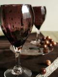 豆しぼり柄ワイングラス紫