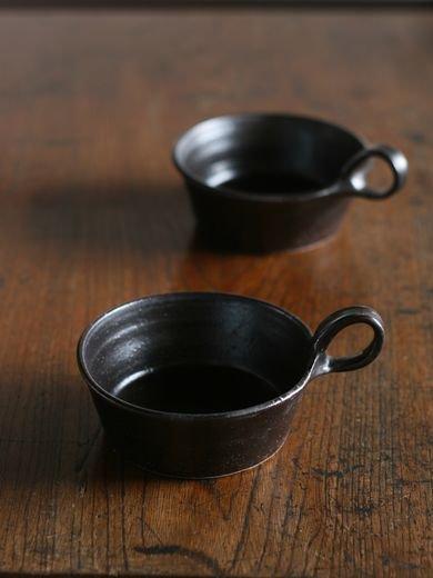 黒釉スープ平マグ