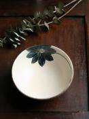 黒ハスの花浅鉢