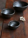 黒釉すり鉢 3寸