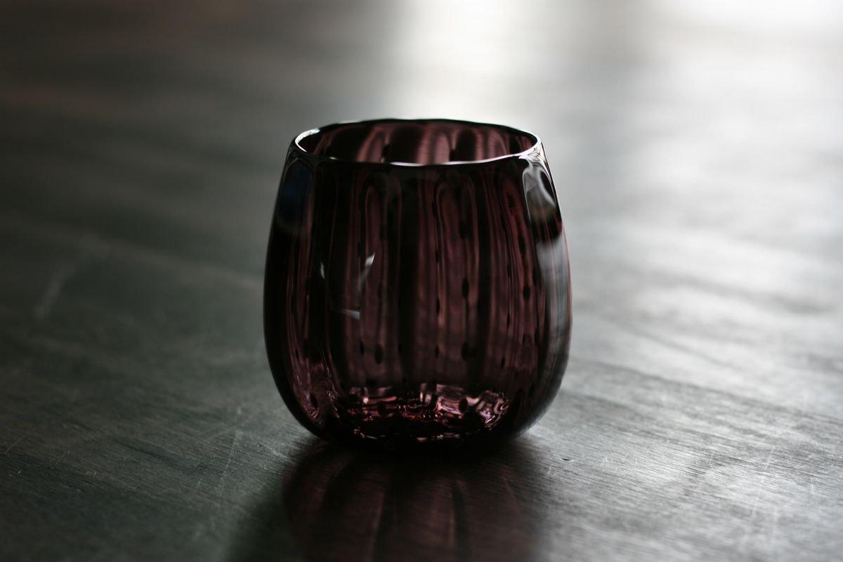 豆しぼり柄フリーカップ紫
