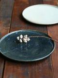 黒呉須玉縁8寸皿