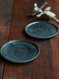 黒呉須玉縁5寸皿