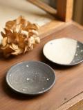 黒灰まめ皿(tenten/two-tone)