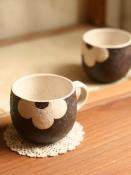 applique カップ(茶)