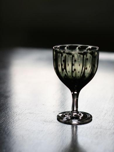 豆しぼり柄酒杯緑