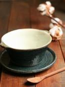 黒呉須化粧スープ深碗