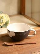 applique スープマグ(茶)