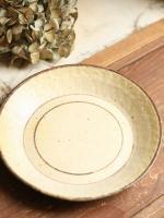 7寸皿(アイボリー×茶)