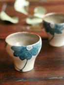 青ハスの花フリーカップ