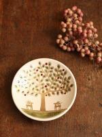 樹と鹿の豆皿