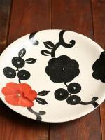 赤花7寸皿