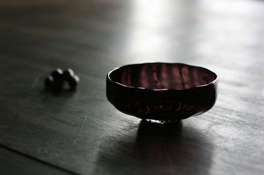 豆しぼり柄小鉢紫