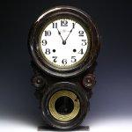 珍しい模様の精工舎(SEIKOSHA)ダルマ時計|ゼンマイ式振り子掛時計