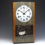 人気のカレンダー付!栄計舎 (EIKEISHA)レトロ柱時計 30日巻【ゼンマイ式】